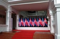 Nhà lãnh đạo Triều Tiên Kim Jong un đã rời khách sạn đến đảo Sentosa