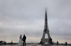 Khoảng 450 tấm kính được lắp dưới chân tháp Eiffel để bảo vệ an ninh