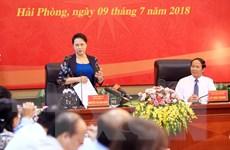 """Chủ tịch Quốc hội: Hải Phòng cần giải quyết """"điểm nghẽn"""" phát triển"""