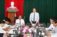 Chủ tịch MTTQ Việt Nam Trần Thanh Mẫn làm việc tại Tuyên Quang