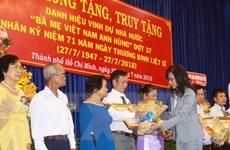 TPHCM: Phong tặng và truy tặng danh hiệu Bà mẹ Việt Nam Anh hùng