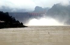 9 giờ ngày 17/8, đóng 1 cửa xả đáy hồ Thủy điện Hòa Bình