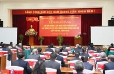 Hình ảnh khai giảng lớp bồi dưỡng kiến thức cho các Ủy viên TW Đảng