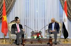 Chủ tịch nước Trần Đại Quang hội kiến Chủ tịch Quốc hội Ai Cập