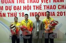 Đại sứ Việt Nam tại Indonesia chúc mừng đoàn Việt Nam tại ASIAD