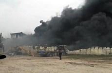 Cháy lớn tại công ty cơ khí ở Hưng Yên, khói đen bốc ngùn ngụt