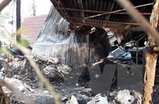Bình Dương: Dập tắt kịp thời một vụ cháy cơ sở tái chế phế liệu