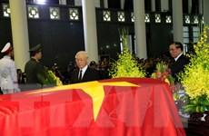 Hình ảnh các lãnh đạo đi quanh linh cữu Chủ tịch nước Trần Đại Quang