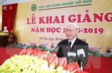 Phát biểu của Tổng Bí thư tại Lễ khai giảng Học viện Nông nghiệp