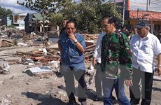 Sóng thần tại Indonesia: Tổng thống Widodo đến thăm vùng bị thiệt hại