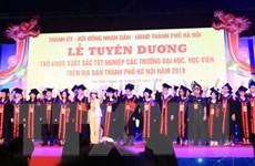 Hà Nội tuyên dương Thủ khoa xuất sắc tốt nghiệp các đại học, học viện