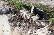 Cận cảnh bờ kè gần trăm tỷ đồng ở Kon Tum bị phá để trộm sắt