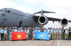 Hình ảnh lực lượng gìn giữ hòa bình Việt Nam xuất quân đợt hai