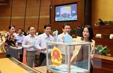 Ngày 25/10, Quốc hội tiến hành lấy phiếu tín nhiệm với 48 chức danh