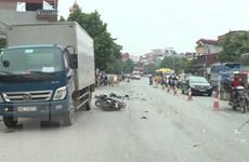 Hưng Yên: Xe tải đâm vào hai xe máy làm 3 người thương vong