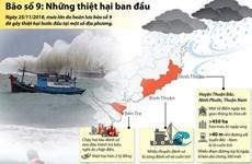 Những thiệt hại ban đầu do bão số 9 gây ra ở Nam Trung Bộ, Nam Bộ