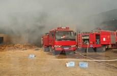 Nghệ An: Nhanh chóng khống chế vụ cháy tại Công ty sản xuất tăm tre