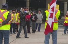 """Phong trào biểu tình """"Áo vàng"""" đã xuất hiện tại Canada"""