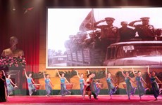 Hình ảnh Lễ kỷ niệm 40 năm ngày chiến thắng chế độ diệt chủng
