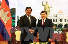 Lãnh đạo Thành phố Hồ Chí Minh tiếp Phó Thủ tướng Campuchia Sar Kheng
