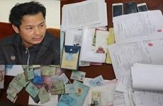 Bắt đối tượng cho vay nặng lãi lên đến 160% mỗi năm ở Thanh Hóa