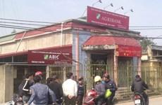 Truy bắt đối tượng cướp tại phòng giao dịch Agribank ở Thái Bình