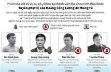 [Infographics] Các án phạt trong vụ xử sự cố y khoa tại Hòa Bình