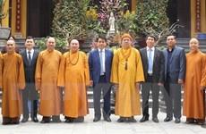 Chủ tịch UBND thành phố Hà Nội chúc Tết Giáo hội Phật giáo