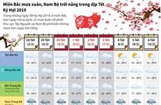 [Infographics] Miền Bắc mưa xuân, Nam Bộ trời nắng trong Tết Kỷ Hợi
