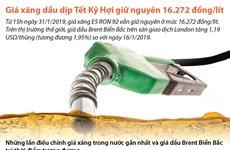 [Infographics] Giữ nguyên giá xăng dầu trong dịp Tết Kỷ Hợi 2019