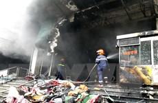 Kịp thời khống chế vụ cháy tại chợ trung tâm thành phố Thái Nguyên