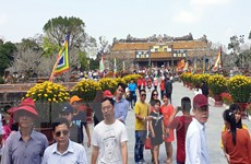 """Ngày mùng 1 Tết có khoảng 25.000 khách """"xông đất"""" di tích Cố đô Huế"""