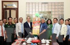 Bí thư Nguyễn Thiện Nhân chúc Tết quận huyện, cơ quan báo chí TP.HCM