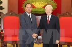 Tổng Bí thư, Chủ tịch nước tiếp đoàn đại biểu cấp cao Bộ An ninh Lào