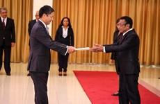 Đại sứ Phạm Vinh Quang trình Quốc thư lên Tổng thống Timor Leste