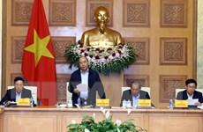 Hình ảnh Thủ tướng chủ trì họp Tiểu ban Kinh tế-Xã hội của ĐH Đảng