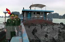 Bắt giữ tàu vận chuyển 900 tấn than bùn không rõ nguồn gốc