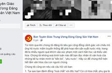 Ban Tuyên giáo Trung ương bị mạo danh trên mạng xã hội Facebook