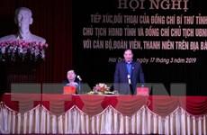 Bí thư Tỉnh ủy Hải Dương đối thoại với đoàn viên, thanh niên