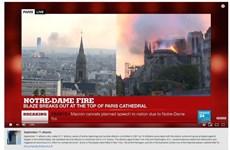 """Thuật toán YouTube """"nhầm"""" vụ cháy Nhà Thờ Đức Bà là khủng bố 11/9"""