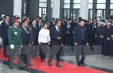 Hình ảnh Thủ tướng Campuchia Hun Sen viếng đồng chí Lê Đức Anh