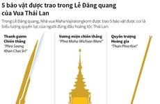 [Infographics] 5 bảo vật được trao ở Lễ Đăng quang của Vua Thái Lan