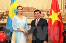 Lãnh đạo TP Hồ Chí Minh tiếp Công chúa kế vị Thụy Điển