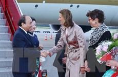 Hình ảnh Thủ tướng đến Oslo, bắt đầu thăm chính thức Na Uy
