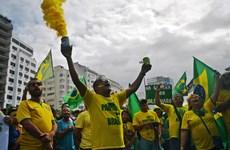 Brazil: Hàng nghìn người tuần hành ủng hộ Tổng thống J. Bolsonaro