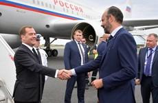 Thủ tướng Nga Dmitry Medvedev bắt đầu chuyến thăm Pháp