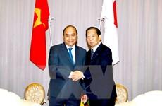Thủ tướng tiếp Chủ tịch Liên minh Nghị sỹ hữu nghị Nhật Bản-Việt Nam