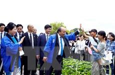 Hình ảnh Thủ tướng cùng Phu nhân dự Lễ hội hoa sen Nhật-Việt