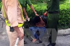 Bắt giữ đối tượng có biểu hiện ngáo đá gây tai nạn trong hầm Hải Vân