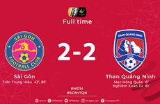V-League: Sài Gòn và Than Quảng Ninh chia điểm trong trận hòa 2-2